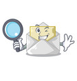 detective open envelope greeting posters on vector image vector image