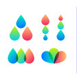 drops icons set inkjet printer logo vector image