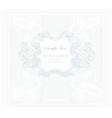 elegant vintage floral frame vector image vector image