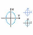ellipse plot mosaic icon round dots vector image vector image