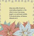 floral pattern Doodle vector image vector image