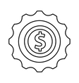 gears settings flat icon vector image vector image