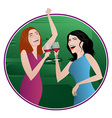 girls night vector image