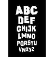 Hand written font type alphabet vector image vector image