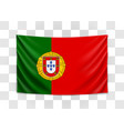 hanging flag portugal portuguese republic vector image vector image