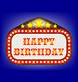 happy birthday movie theatre marquee vector image vector image