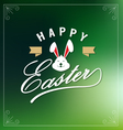 Happy Easte Lettering Greeting Card vector image vector image