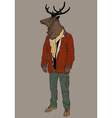 Hipster deer vector image vector image