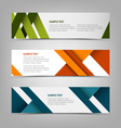 Horizontal banners with abstract colored stripes vector image vector image