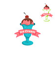 ice cream logo for company or shop vector image vector image