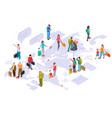 international tourism on world map isometric vector image vector image