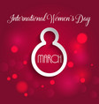 international womens day background vector image