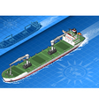 Isometric cargo ship vector image vector image