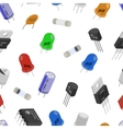 Isometric Electronic components pattern vector image vector image