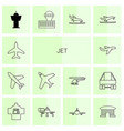 jet icons vector image vector image