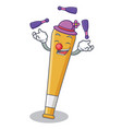 Juggling baseball bat character cartoon