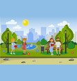 landscape of the city park vector image
