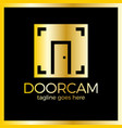 line door photo logo open photo studio vector image vector image
