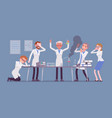 mad scientist failed chemical experiments vector image