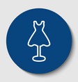 mannequin with dress sign white contour vector image vector image