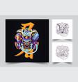 mecha japan ronin artwork vector image