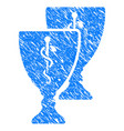 medical award cups grunge icon vector image vector image