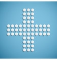 Medical cross from pills vector image