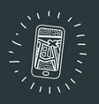 mobile navigation route icon vector image