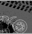 motorcycle drawn by contour vector image vector image