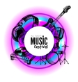 Music background Hand drawn vector image vector image
