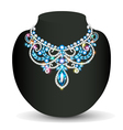 necklace female shiny beautiful wedding vector image vector image