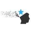 open head star broken pixel icon vector image vector image