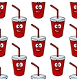 Seamless pattern of a takeaway beverage vector image