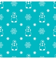 Seamless winter pattern with snowman and vector image vector image