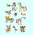 Set animal naive vector image vector image