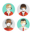 set avatars people remote workers in vector image vector image
