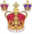 set gold crown vector image vector image