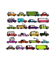 Set of cars collection for your design vector image
