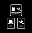 set of restroom symbol toilet sign hat symbol vector image