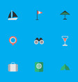 set of simple relax icons vector image vector image