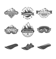 Set of snowboarding badges vector image vector image