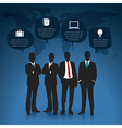 Silhouettes of Businessman vector image vector image