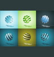 spiral sphere abstract lines vector image vector image