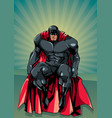 superhero sitting ray light vector image vector image
