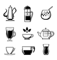 Tea Coffee or Chocolate Drink Icons vector image