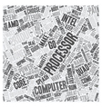 The Fiercest Microprocessors text background vector image vector image