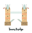 tower bridge london famous landmark attraction vector image vector image