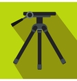 Tripod icon in flat style vector image