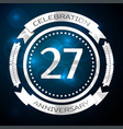 twenty seven years anniversary celebration with vector image vector image