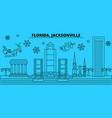 united states jacksonville winter holidays vector image vector image